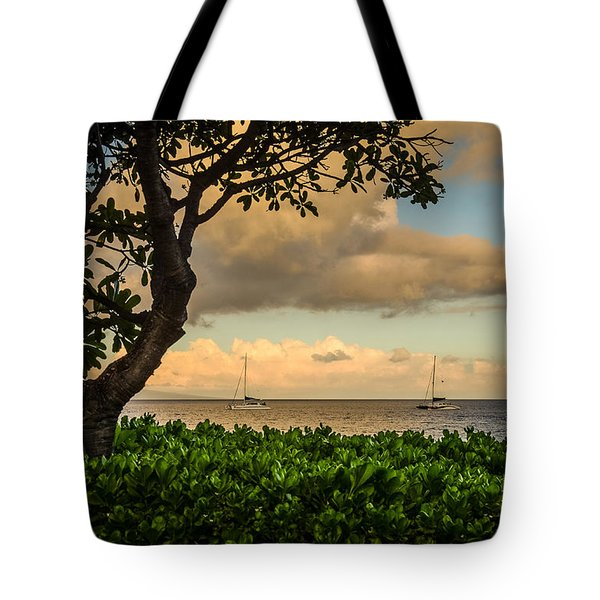 Tote Bag featuring the photograph Ka'anapali Plumeria Tree by Kelly Wade