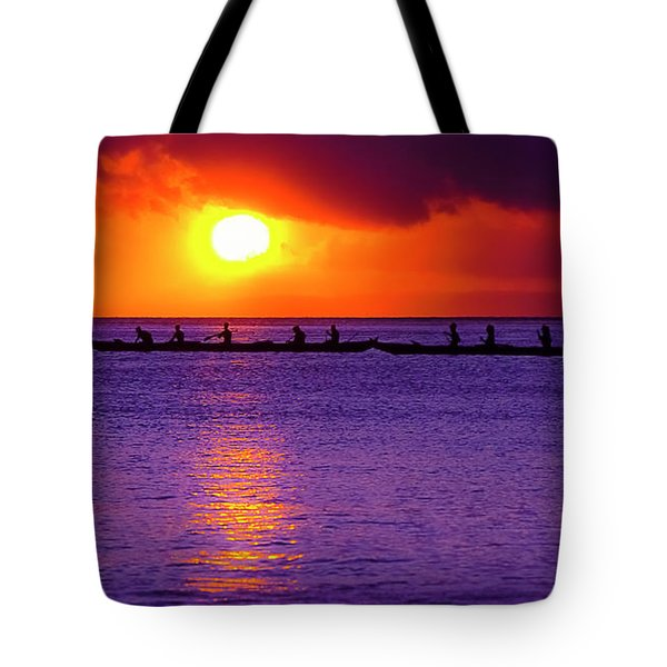Kaanapali Outriggers Sunset II Tote Bag