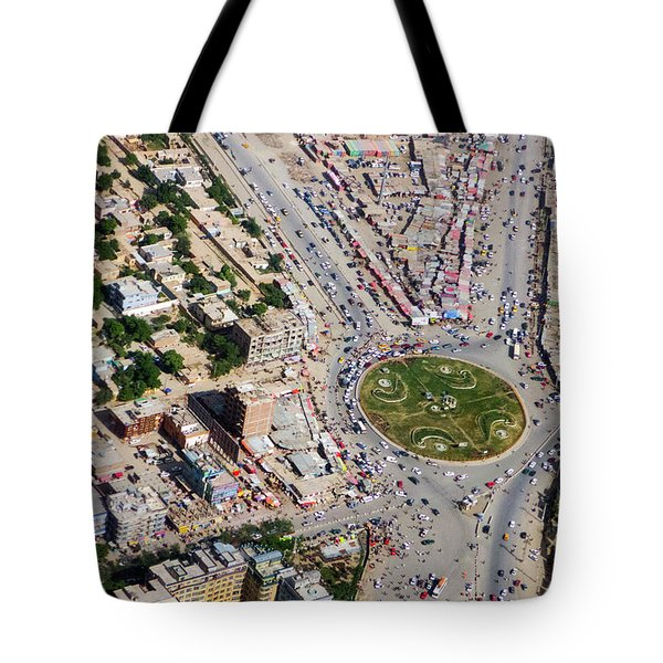 Kabul Traffic Circle Aerial Photo Tote Bag