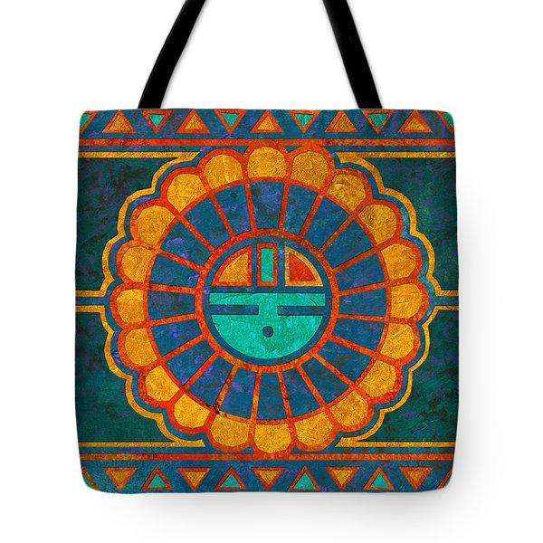 Kachina Sun Spirit Tote Bag by Linda Henry