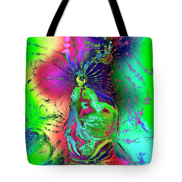 Kachina's Vision Tote Bag by Kurt Van Wagner