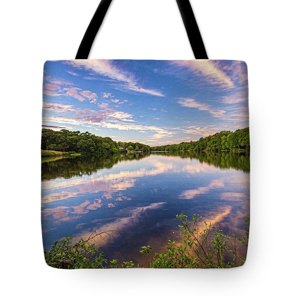 Kahler's Pond Clouds Tote Bag