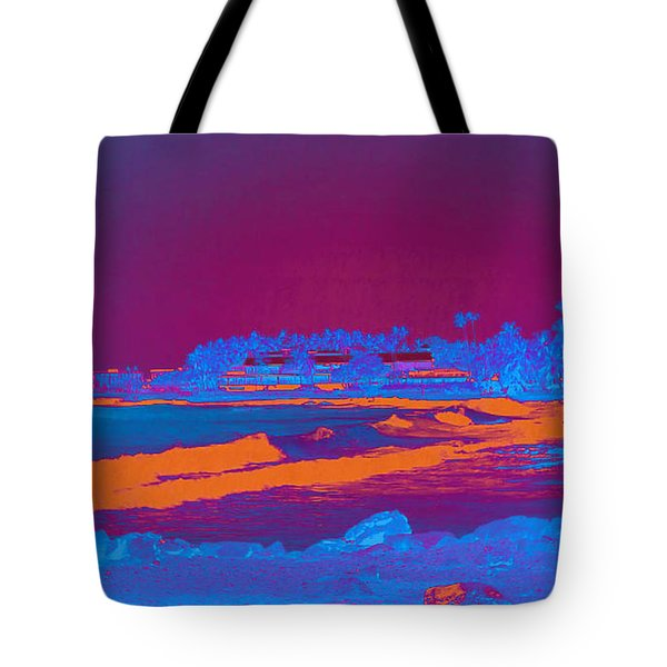 Tote Bag featuring the photograph Kailua Kona Town by Karen Nicholson