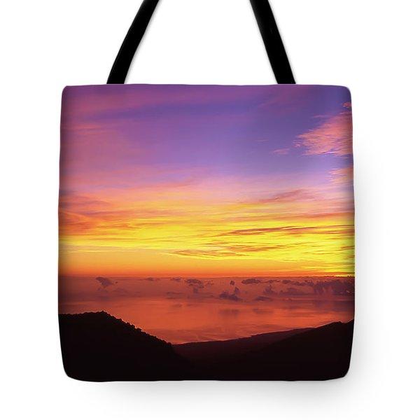 Maui Hawaii Haleakala National Park Kalahaku Overlook Sunrise Tote Bag