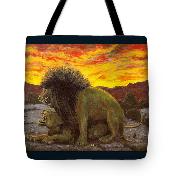 Kalahari Sunset Tote Bag