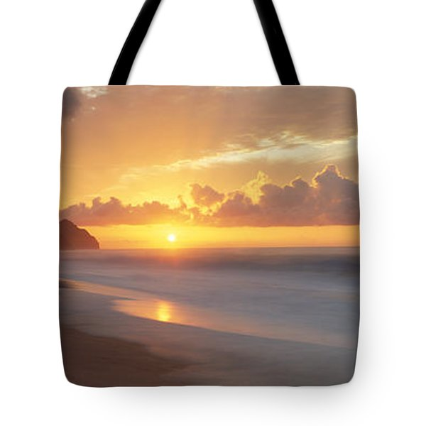 Kalalau Beach Sunset, Na Pali Coast Tote Bag