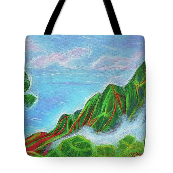 Kalalau Mists Tote Bag