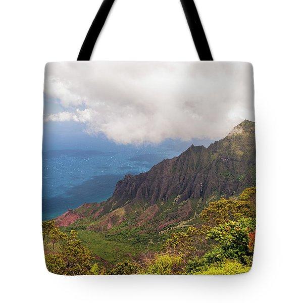 Kalalau Valley Tote Bag by Brian Harig