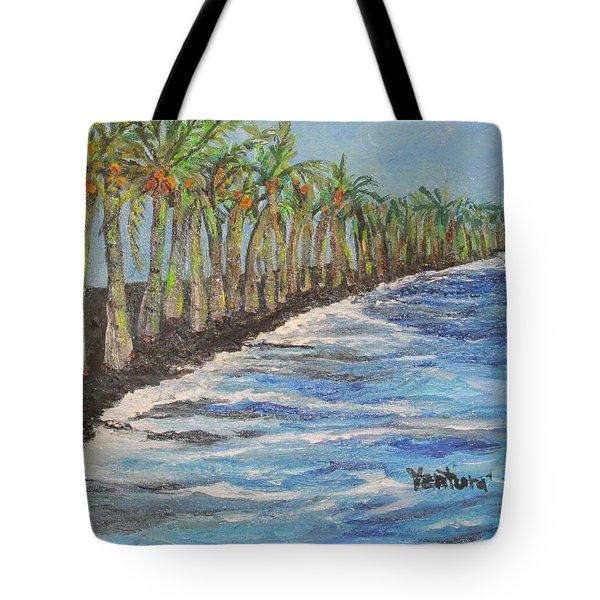 Kalapana Beach Tote Bag