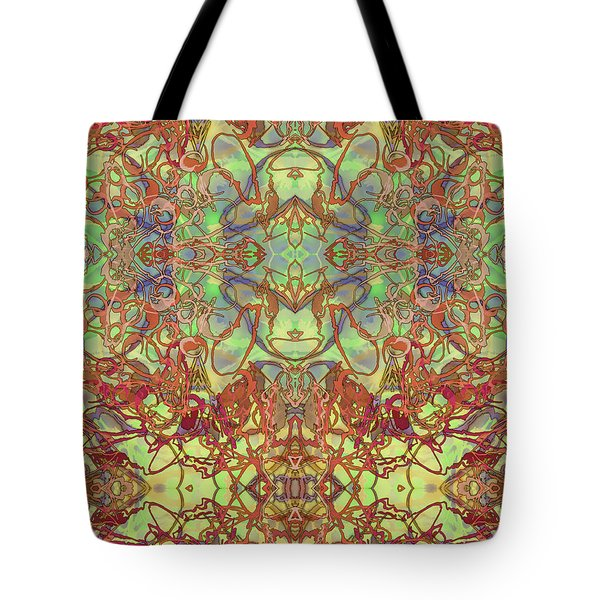 Kaleid Abstract Tapestry Tote Bag