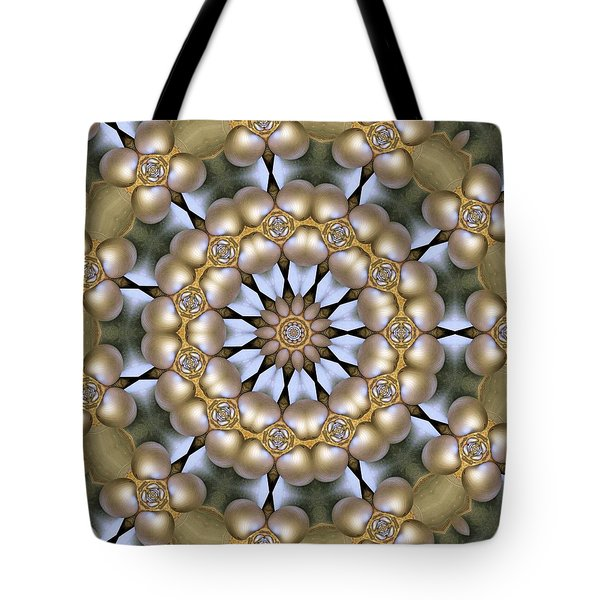 Tote Bag featuring the digital art Kaleidoscope 130 by Ron Bissett