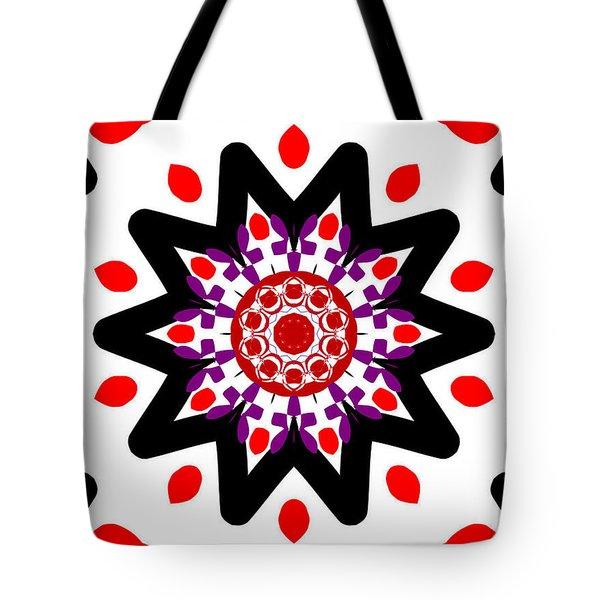 'alien Head' Kaleidoscope Tote Bag