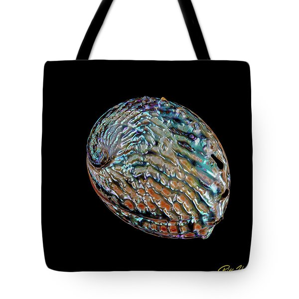 Tote Bag featuring the photograph Kaleidoscope Abalone by Rikk Flohr