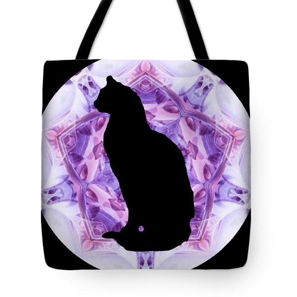 Kaleidoscope Cat Silhouette Tote Bag