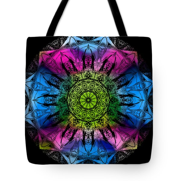 Tote Bag featuring the digital art Kaleidoscope - Colorful by Deleas Kilgore