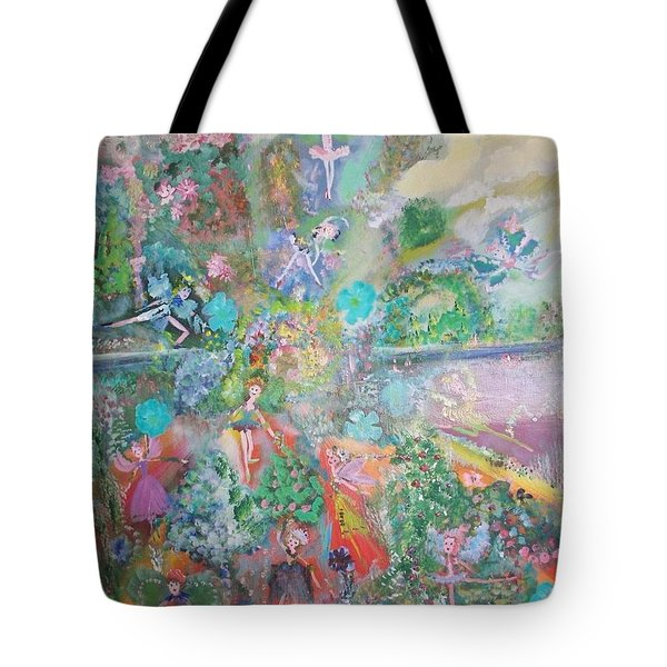 Kaleidoscope Fairies Too Tote Bag by Judith Desrosiers