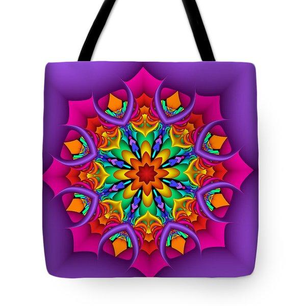 Kaleidoscope Flower 01 Tote Bag