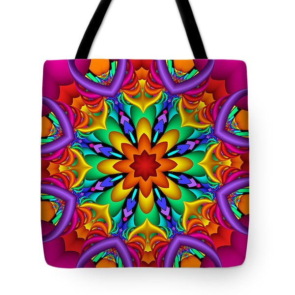 Kaleidoscope Flower 01 Tote Bag