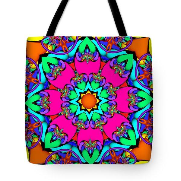 Kaleidoscope Flower 03 Tote Bag