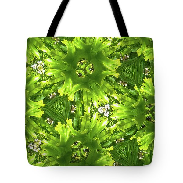 Kaleidoscope Flower Tote Bag by Julia Wilcox