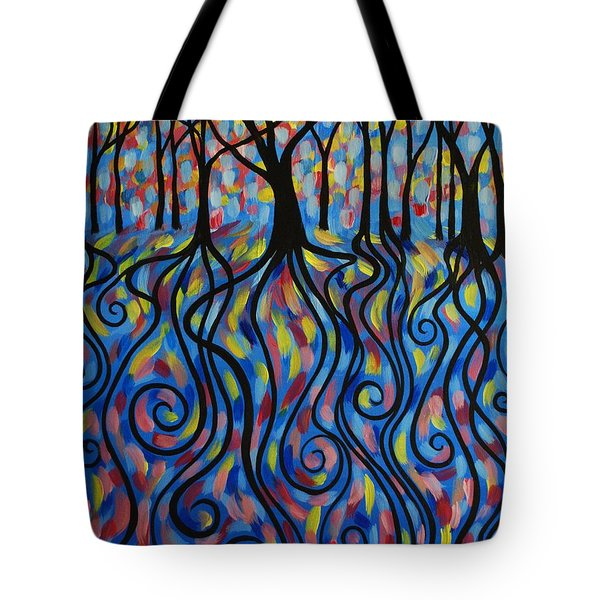 Kaleidoscope Forest Tote Bag