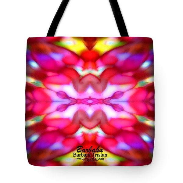 Tote Bag featuring the photograph Kaleidoscope Wonder by Barbara Tristan