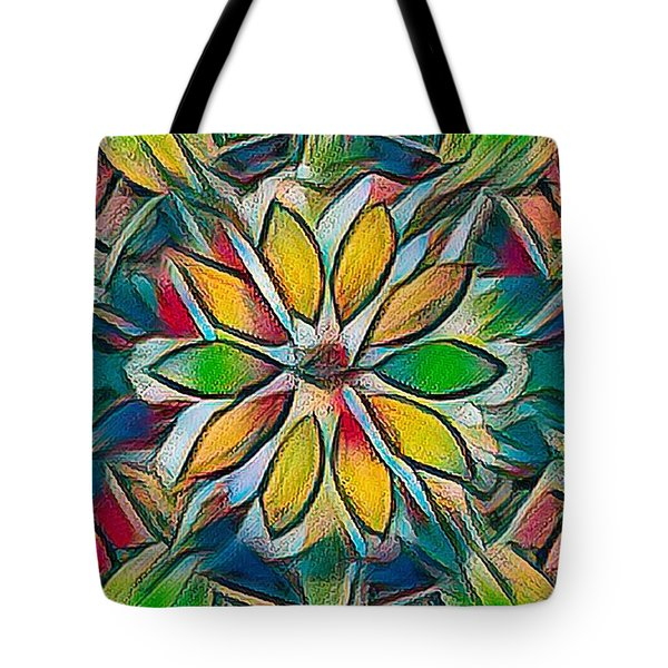 Kaleidoscope In Stained Glass Tote Bag
