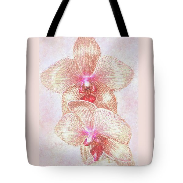 Tote Bag featuring the digital art Kaleidoscope Orchid  by Jane Schnetlage