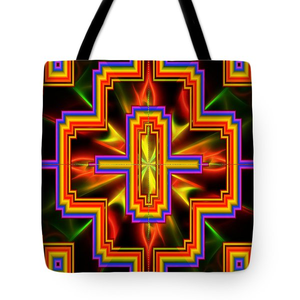 Tote Bag featuring the digital art Kaleidoscope Vision by Mario Carini