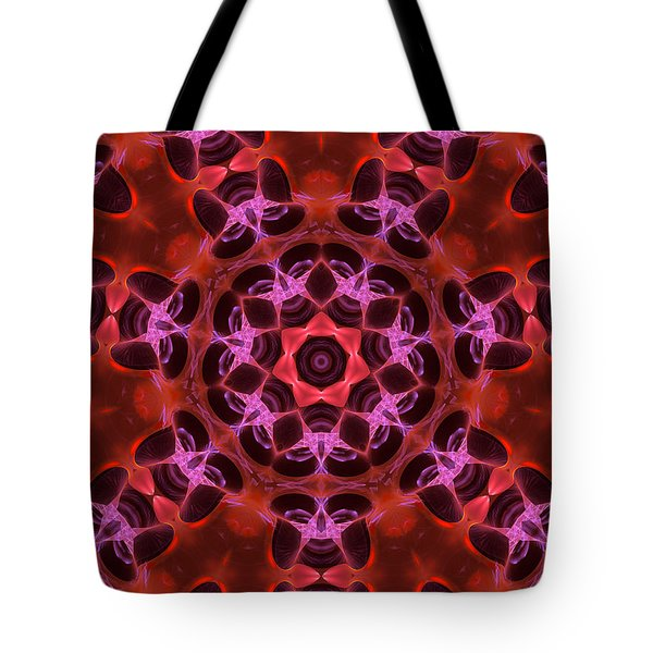 Kaleidoscope With Seven Petals Tote Bag by Ernst Dittmar