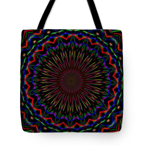Kaleidoscoped Fireworks Tote Bag by Suzanne Handel