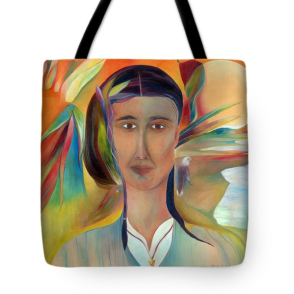 Tote Bag featuring the painting Kalf by Linda Cull