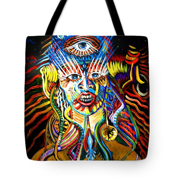 Tote Bag featuring the painting Kali by Amzie Adams