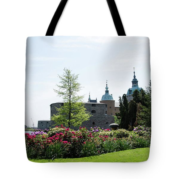 Tote Bag featuring the photograph Kalmar Medieval Castle By Summer by Kennerth and Birgitta Kullman