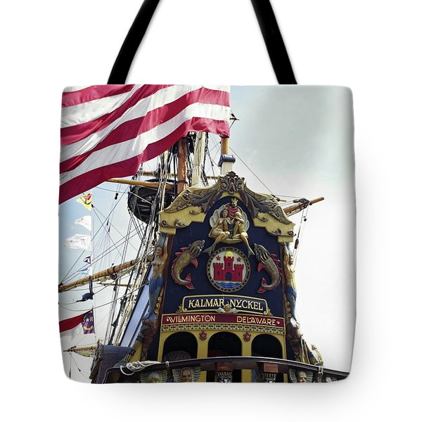 Kalmar Nyckel Tall Ship Tote Bag by Sally Weigand