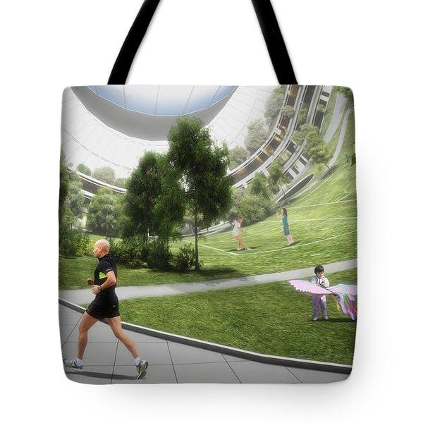 Tote Bag featuring the digital art Kalpana 2 Recreation by Bryan Versteeg