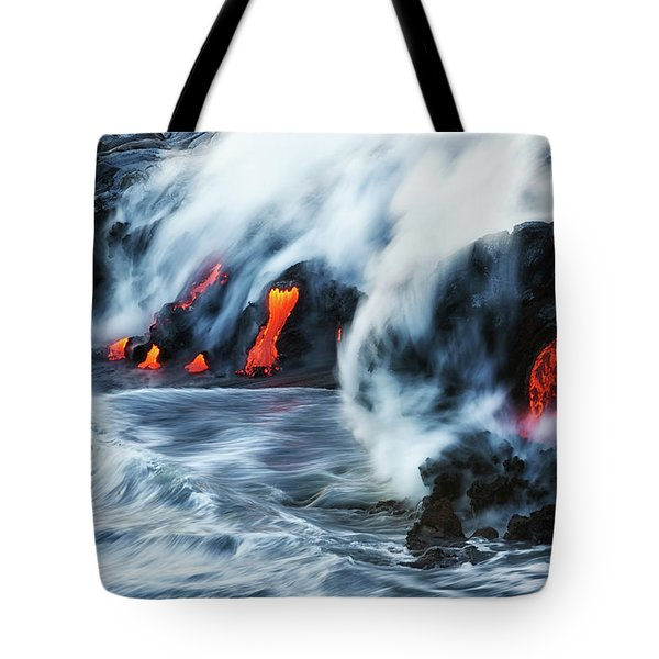 Kamokuna Lava Ocean Entry, 2016 Tote Bag