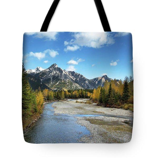 Kananaskis River In Fall Tote Bag