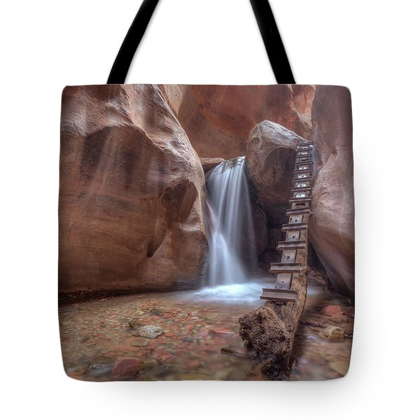 Tote Bag featuring the photograph Kanarra Creek Falls by Paul Schultz