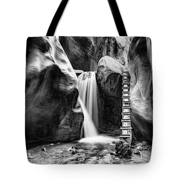 Kanarraville Falls Bw Tote Bag