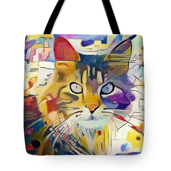 Kandinsky Cat Tote Bag