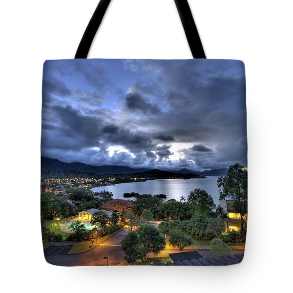 Kaneohe Bay Night Hdr Tote Bag