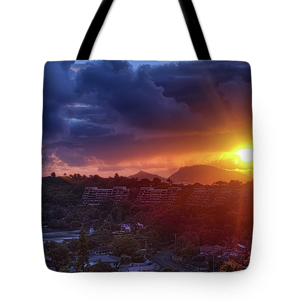 Kaneohe Sunrise Tote Bag