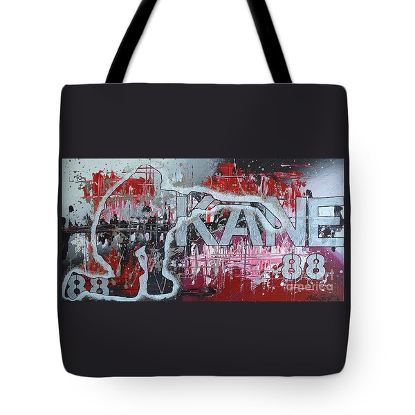 Tote Bag featuring the painting Kaner 88 by Melissa Goodrich