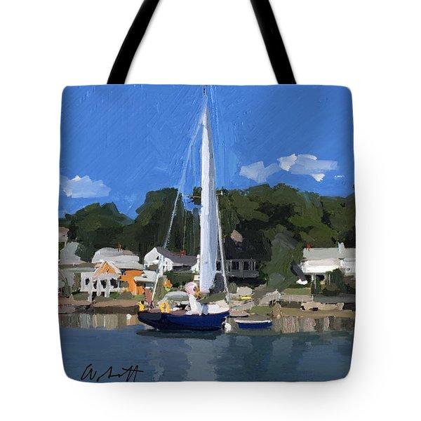 Kanga In Lobster Cove Tote Bag