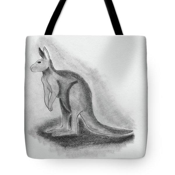 Kangaroo Drawing Tote Bag