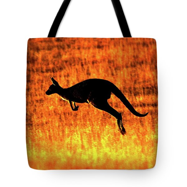 Kangaroo Sunset Tote Bag