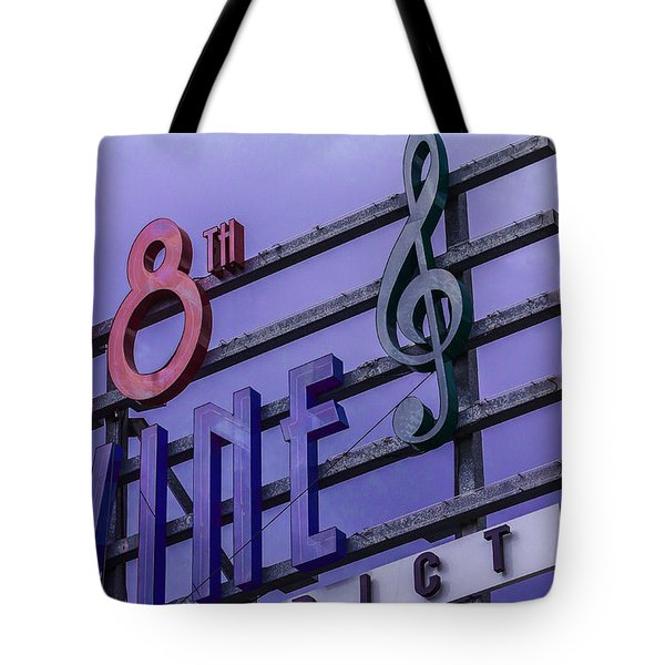 Kansas City 18th And Vine Sign Tote Bag