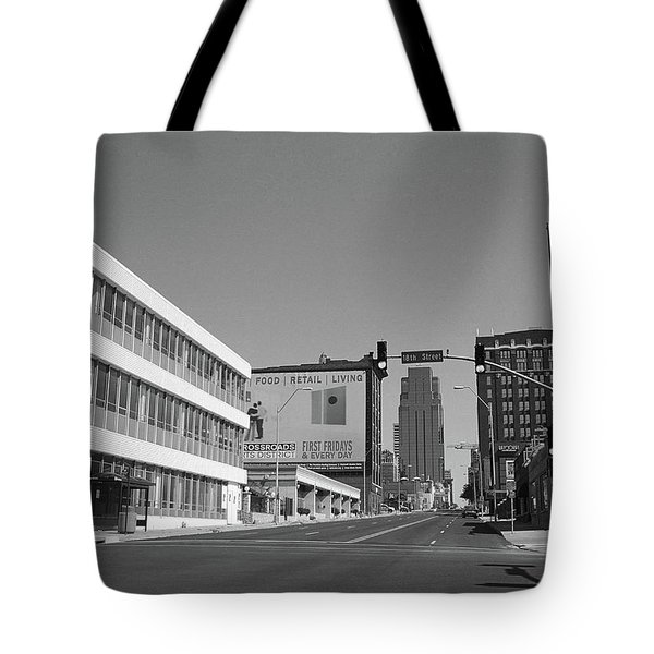 Tote Bag featuring the photograph Kansas City - 18th Street Bw by Frank Romeo