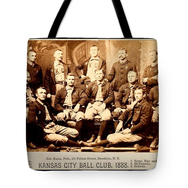 Tote Bag featuring the photograph Kansas City Baseball Club 1888 by Peter Gumaer Ogden Collection